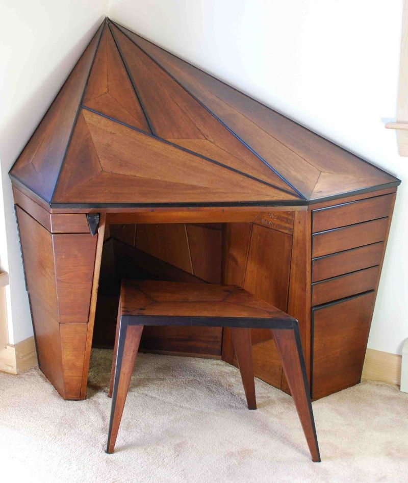 "Mark Sfirri showed Wharton Eshericks' Conner Desk circa the '30s, for his patron Helene Fischer, describing it in depth and proclaiming it,  his ""favorite piece of Esherick furniture, ever."""