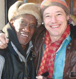 Lucky me, with Bernie Worrell after an inspiring day making music.
