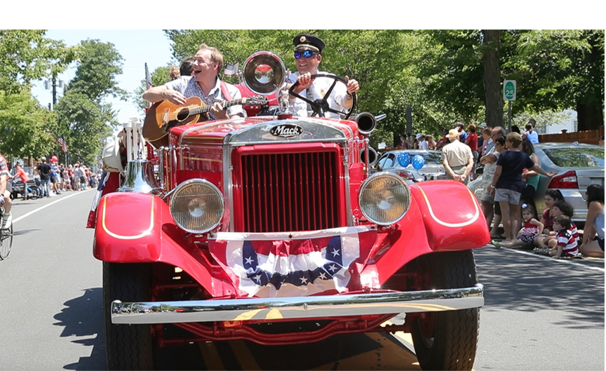 Ole 33 ridin' along in the Fourth of July Parade - Photo by Randee Daddona