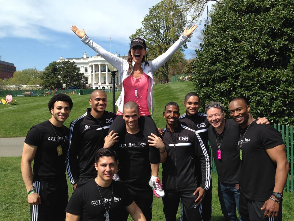 Another cool memory: Claudia & Brady with the City Gym Boys at the White House Easter Egg Roll, 2014.