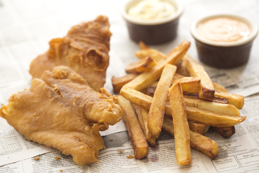 Chef Armstrong's proper irish fish & chips at eamonn's A dublin chipper