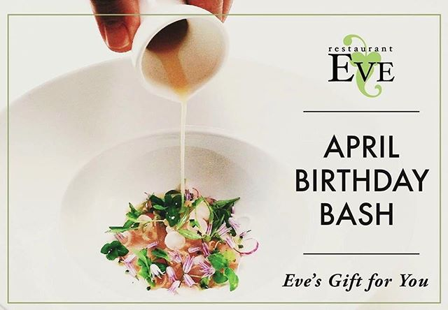 A gift for a gift! For the month of April, Monday-Thursday, guests who bring in a donation for @alexanimals will receive a 5-Course Tasting Menu! Read how on restauranteve.com! #aprilbirthdaybash