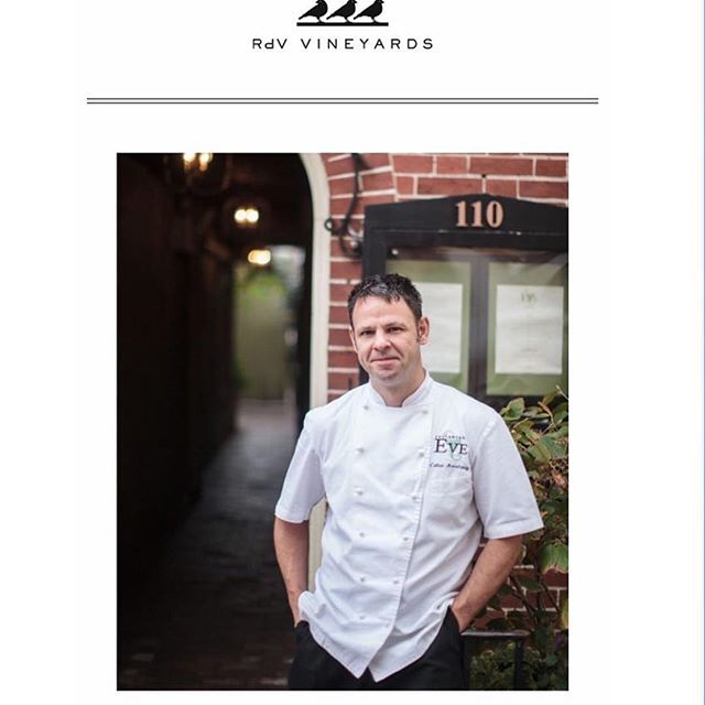 We're throwing it back to our roots this Sunday at @rdvvineyards. Please join us for a one night only homage to @restaurant_eve. Chef Cathal will be serving a five course dinner and Master Sommelier Jarad Slipp will be be pairing the courses with amazing wines. It starts at 7pm and there are only 46 seats available. Get your tickets with the link in our bio!  #restauranteve