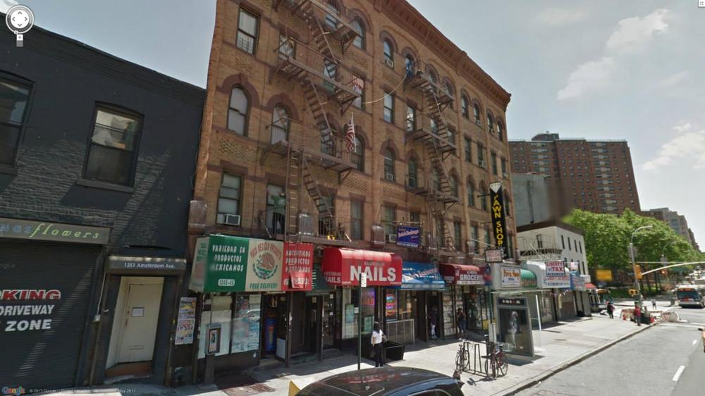 1345 AMSTERDAM AVE, NY    $6,500,000    Three attached 5-story walk-up apartment buildings with 25 residential units, 6 stores