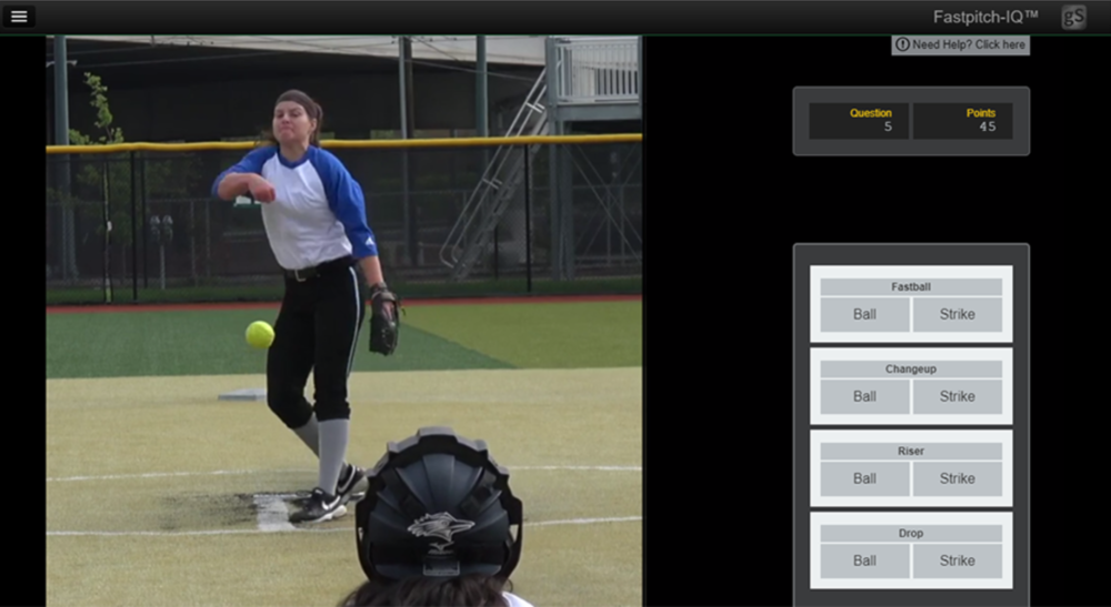Fastpitch softball reaction time pitch recognition