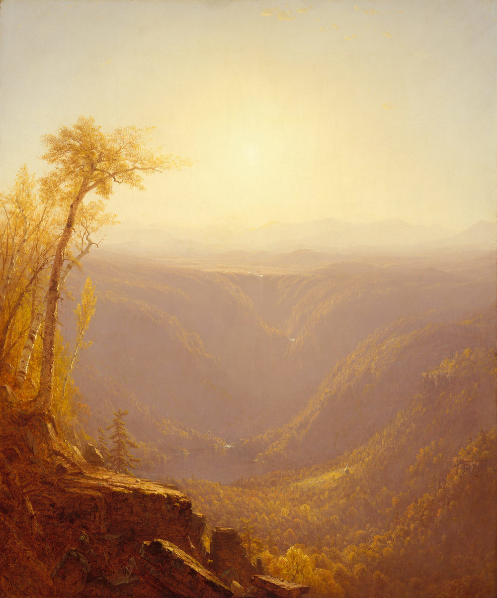 Sanford Robinson Gifford,  A Gorge in the Mountains,  1862