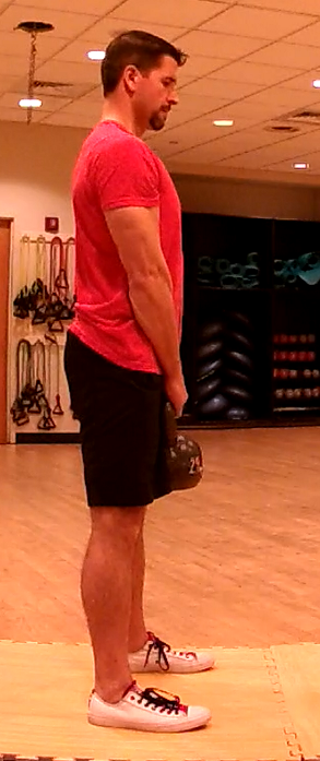 Figure 3 - Top position of the kettlebell deadlift
