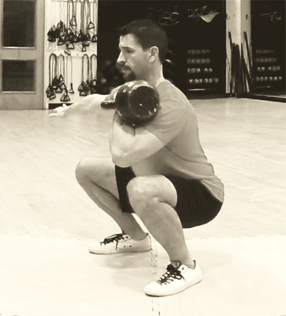 Bottom position of the front squat