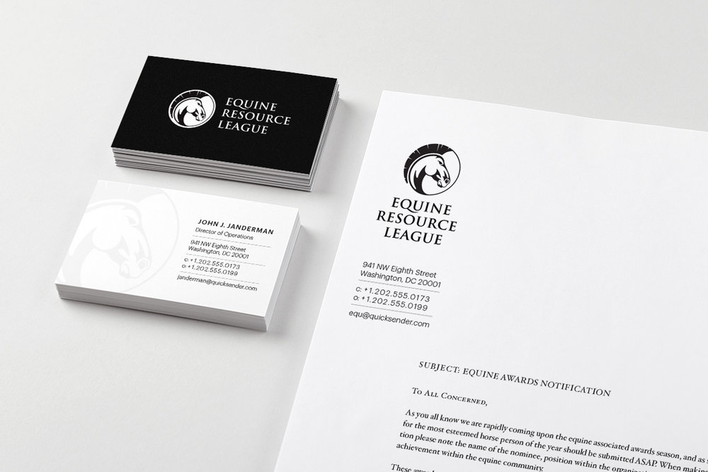 Comfortable Horse Business Cards Gallery - Business Card Ideas ...