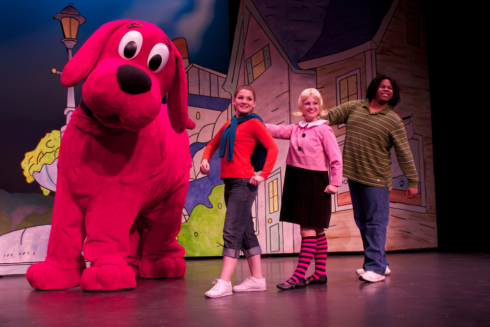 Stage walking with Clifford.jpg