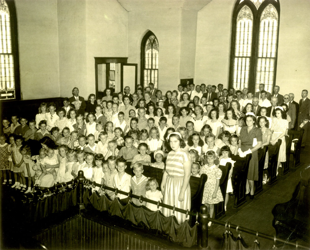 Congregation of the Franklin Memorial Methodist Church, circa 1950s