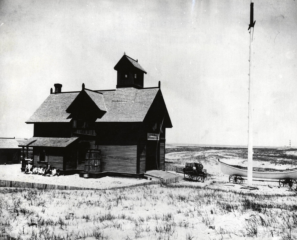 Cape Lookout Lifesaving Station. OBHC, HH Brimley Collection