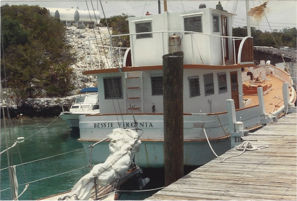 Bessie Virginia Docked in Highborne Cay, Bahamas