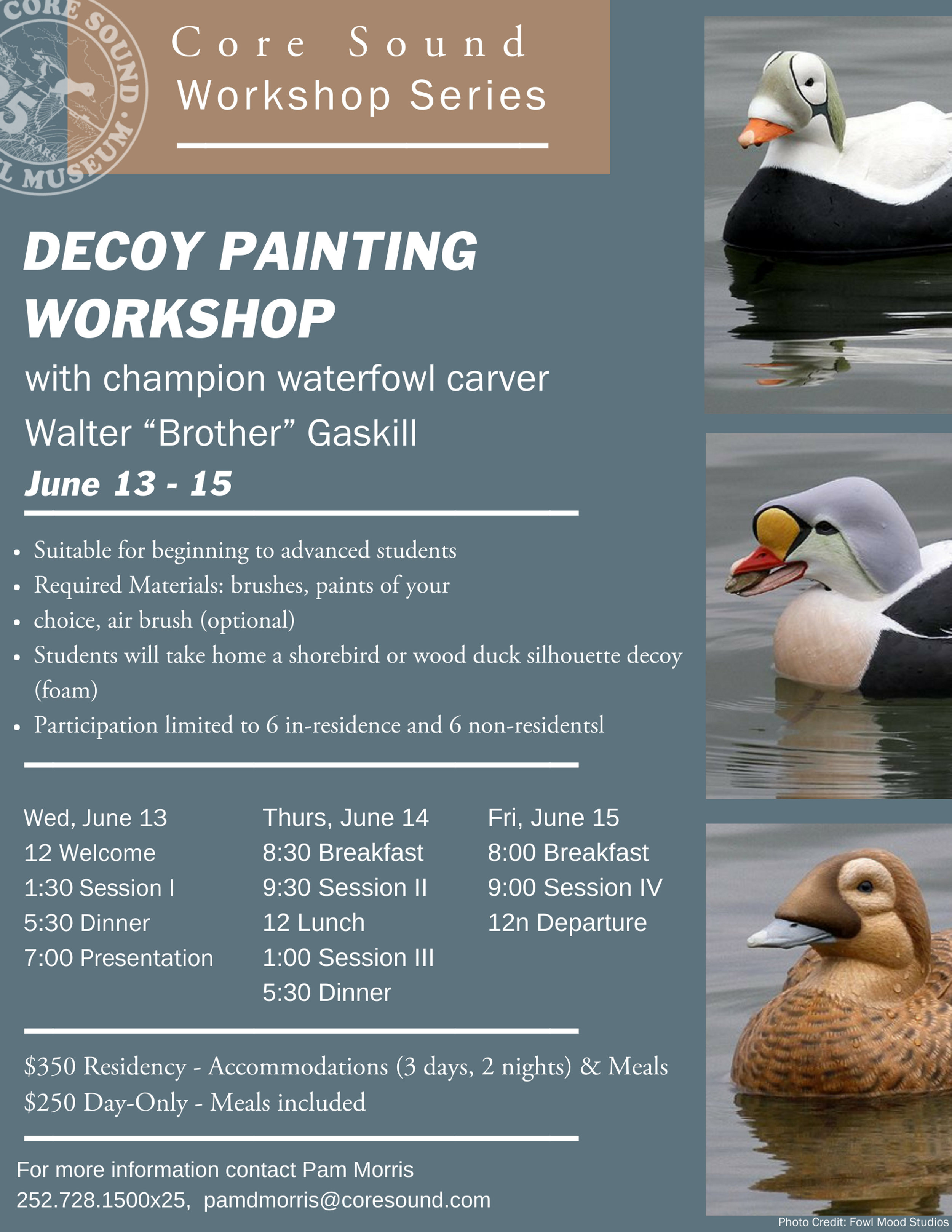 Decoy Painting Workshopwith World Champion Brother