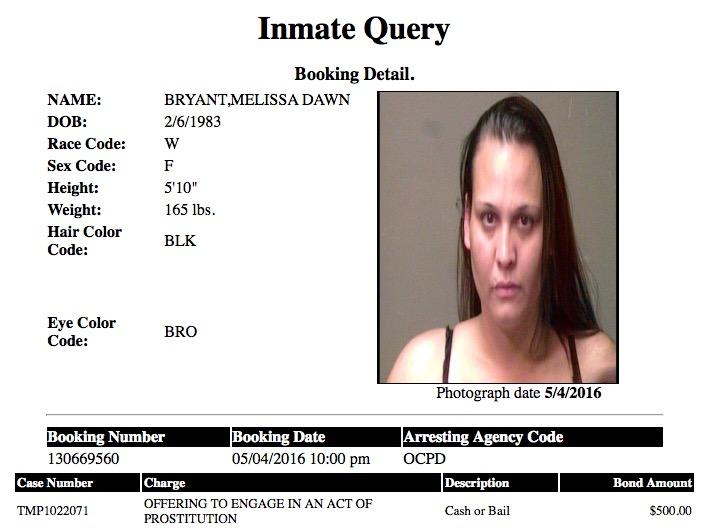 Bryant Melissa Dawn Mugshot Prostitute 2016-05-04.jpg