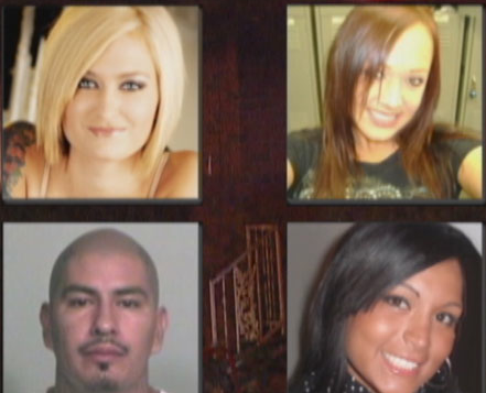 Murder victims: (top: left to right) Brooke Phillips (pregnant), Jennifer Ermey, Casey Barrientos & Milagros Barrera (pregnant).