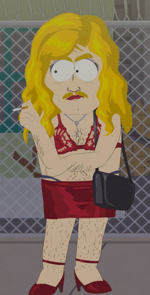 JohnTV doesn't have a pic of Lt. Kimberlin, so we're going to rely on this SouthPark still that is a remarkable resemblance to Lt. Kimberlin working an undercover prostitution sting.