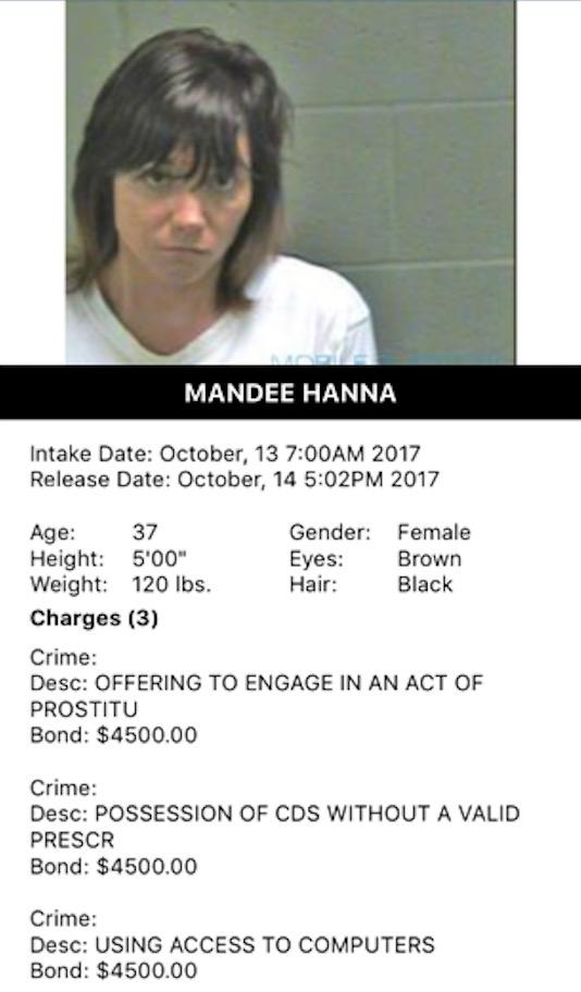Hanna Mandee Mugshot Prostitute 2017-10-13.jpg