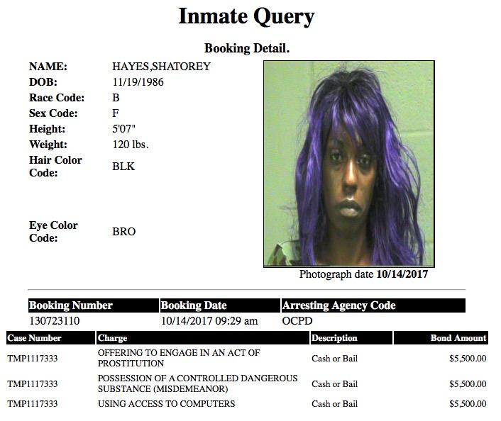 Hayes Shatorey Mugshot Prostitute 2017-10-14.jpg