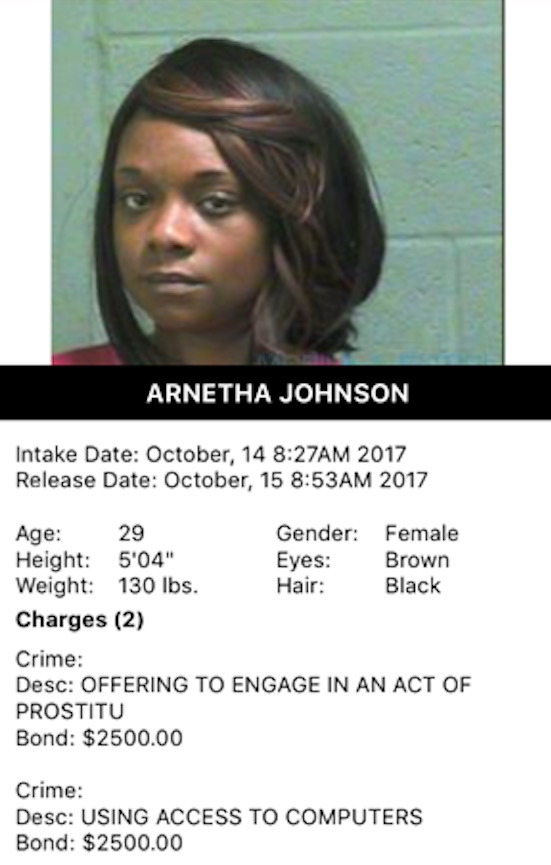Johnson Arnetha Mugshot Prostitute 2017-10-14.jpg