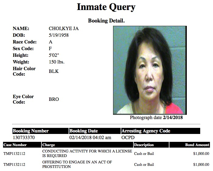 Choi Kye Ja Mugshot Prostitute 2018-02-14.jpg