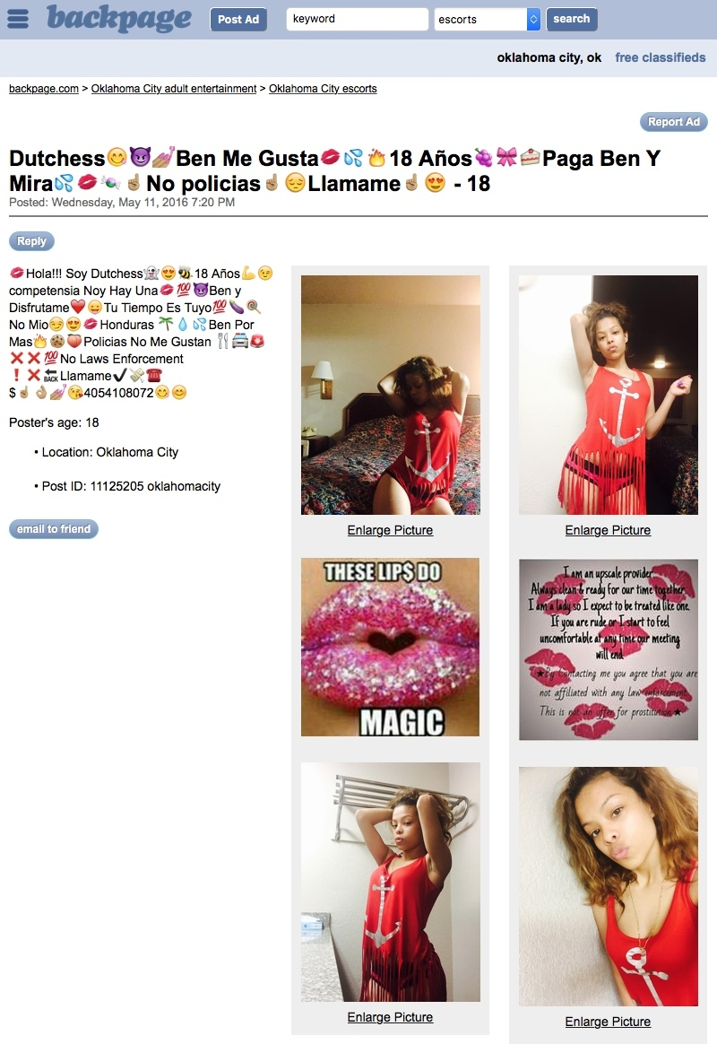 Jame Reyes Dutchess😋😈💅🏽Ben Me Gusta💋💦🔥18 Años🍇🎀🍰Paga Ben Y Mira💦💋🍬☝🏽️No policias☝🏽️😔Llamame☝🏽️😍 - Oklahoma City escorts - backpage.com (20160514).jpg