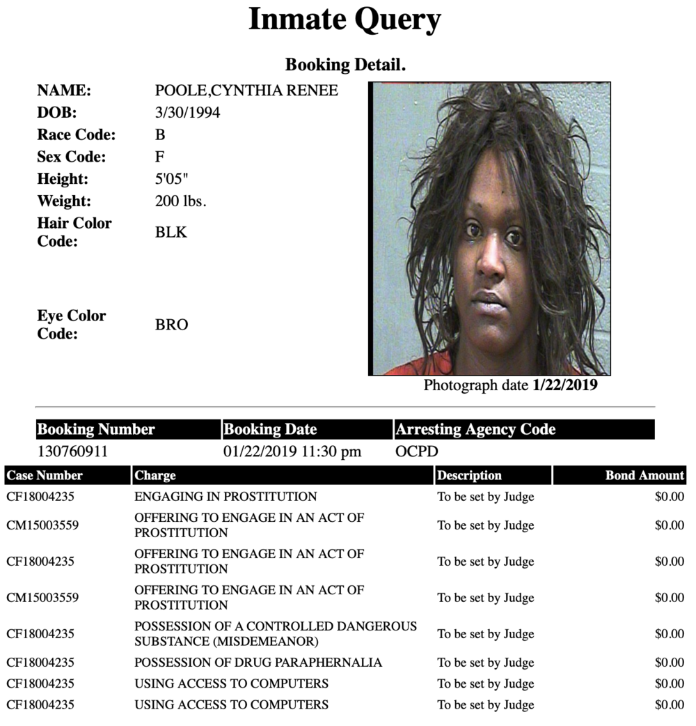 Poole Cynthia Renee Mugshot Prostitute 2019-01-22.png