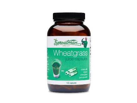 Sproutman's Organic<br>Wheatgrass Juice Capsules