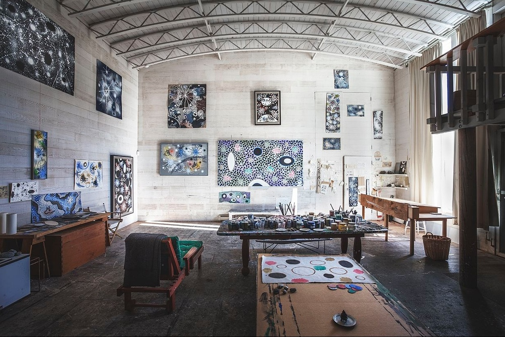 studio of gordon onslow ford. inverness, ca