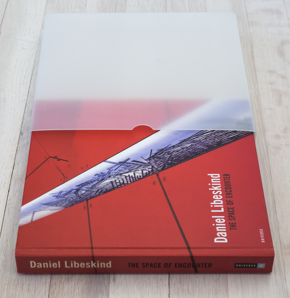 Daniel Libeskind: The Space of Encounter  by Daniel Libeskind, Jeffrey Kipnis, Anthony Vidler. Edited by Richard Olsen. Juliette Cezzar, Graphic Design. Michael Vagnetti, Production Manager. Universe Publishing.
