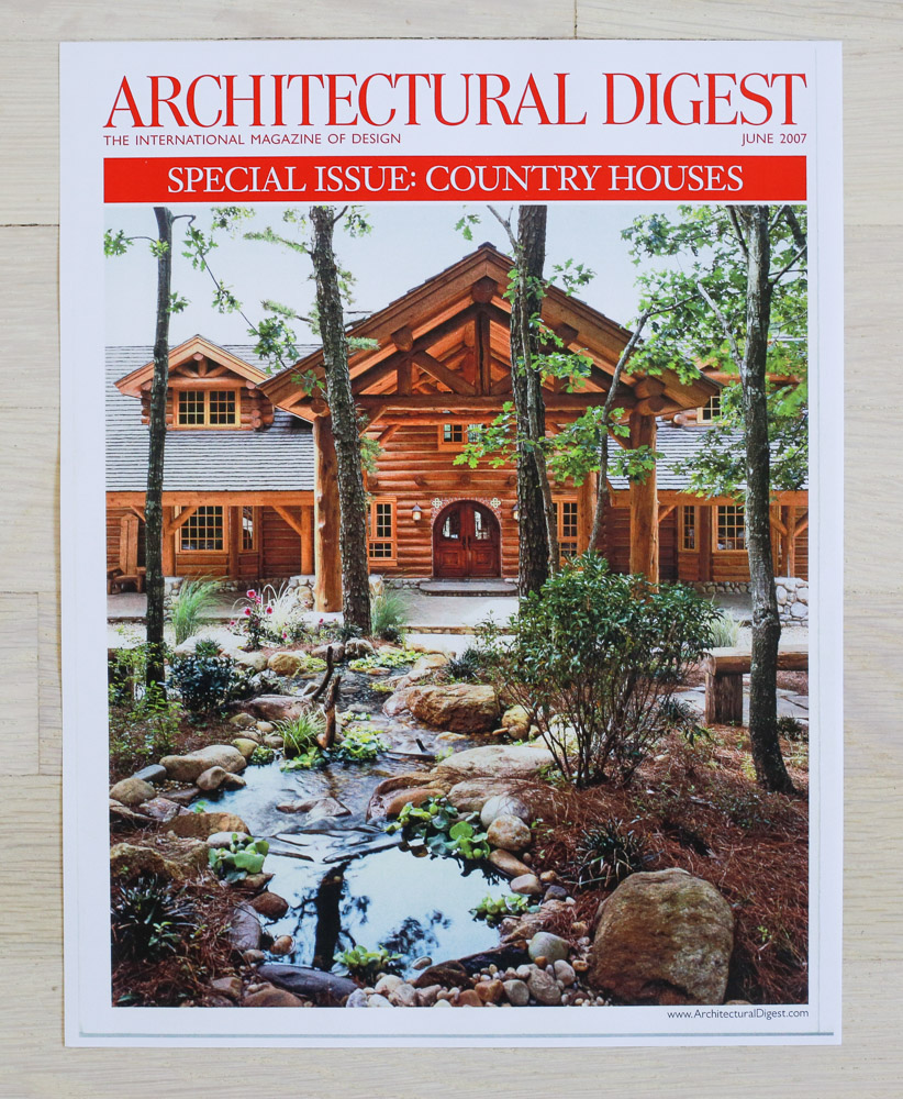 A    rchitectural Digest  , June 2006, Country Houses Issue. Editor-in-Chief, Paige Rense-Noland. Art Director, Jeffrey Nemeroff. Senior Editor (Architecture) and Real Estate Editor, Richard Olsen. Conde Nast Publications, Inc.