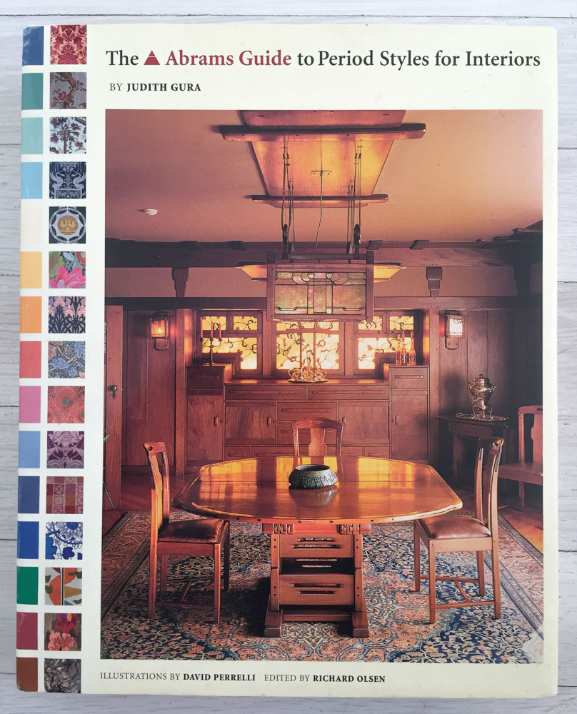 The Abrams Guide to Period Styles for Interiors  by Judith Gura; Illustrations by David Perrelli; Edited by Richard Olsen. Concept, Acquisition, and Editing by Richard Olsen. Brankica Kovrlija, Graphic Design. Harry N. Abrams, Inc., Publishers.