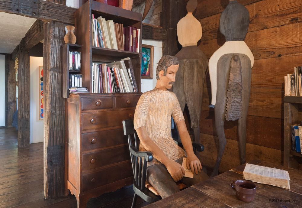 """""""willie"""" (1977), redwood with red cedar and resin, by barbara spring. spring cabin, big sur, ca"""