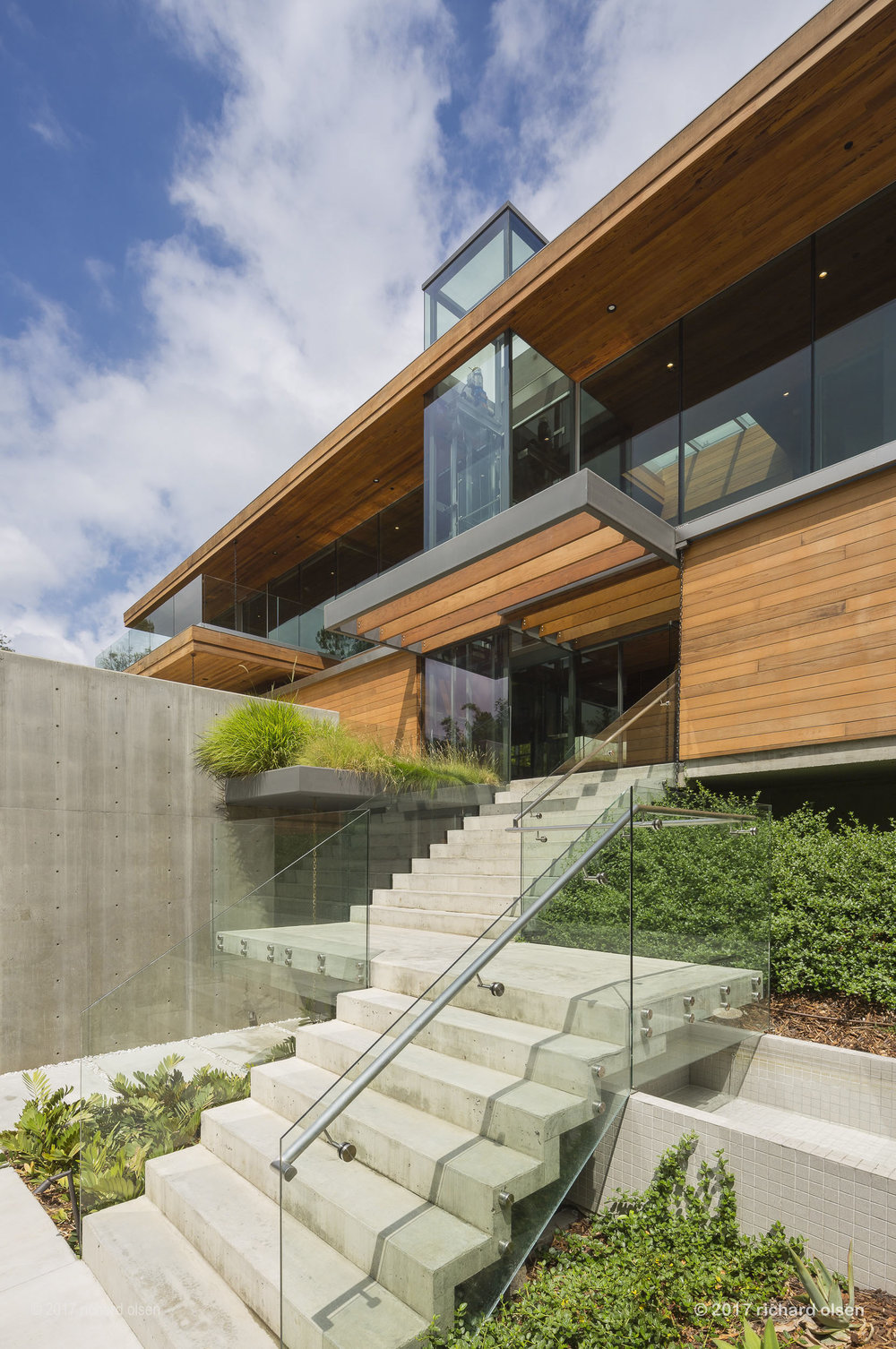 residence, beverly hills. kappe architects planners.