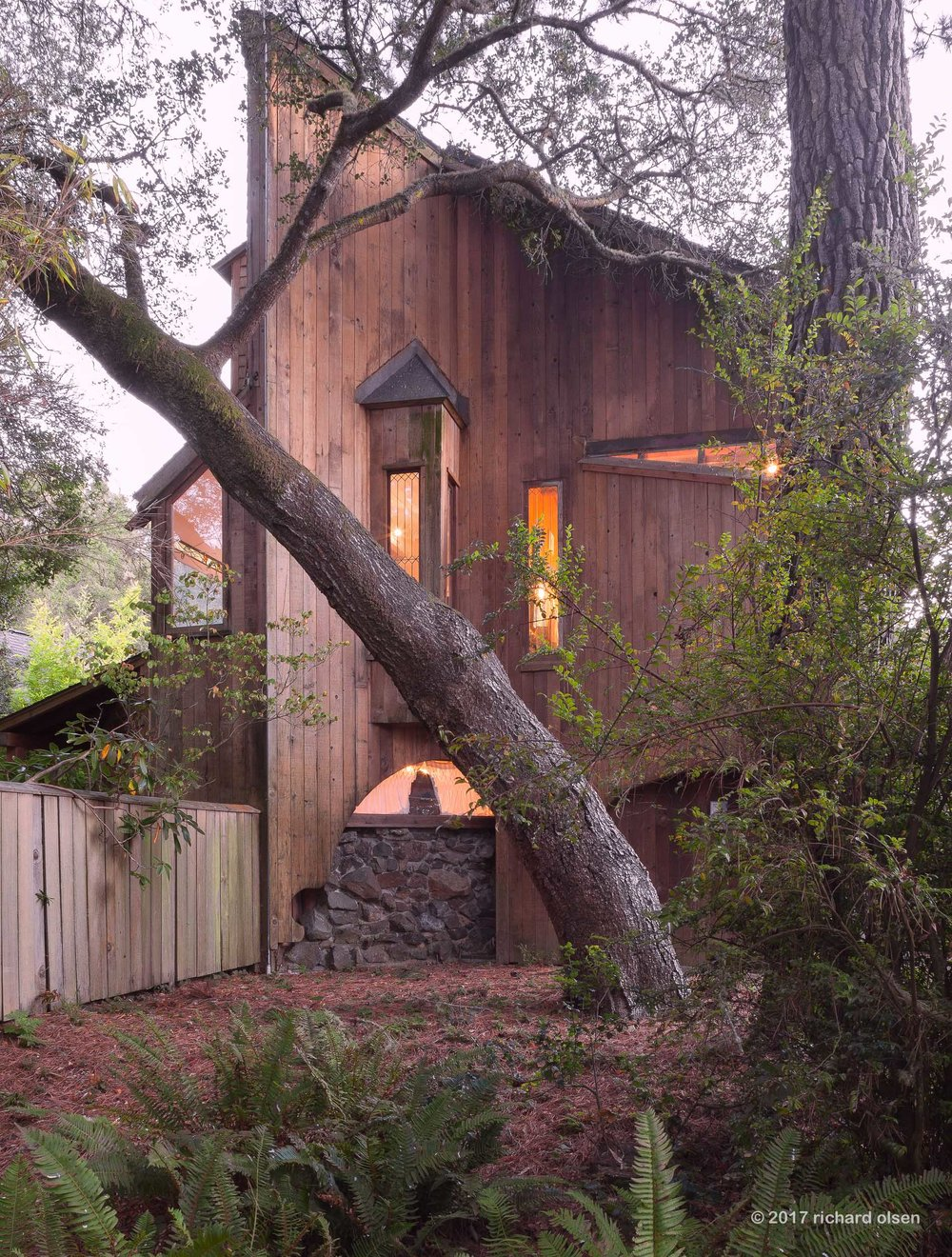 van der ryn house, inverness, ca. sim van der ryn, architect.