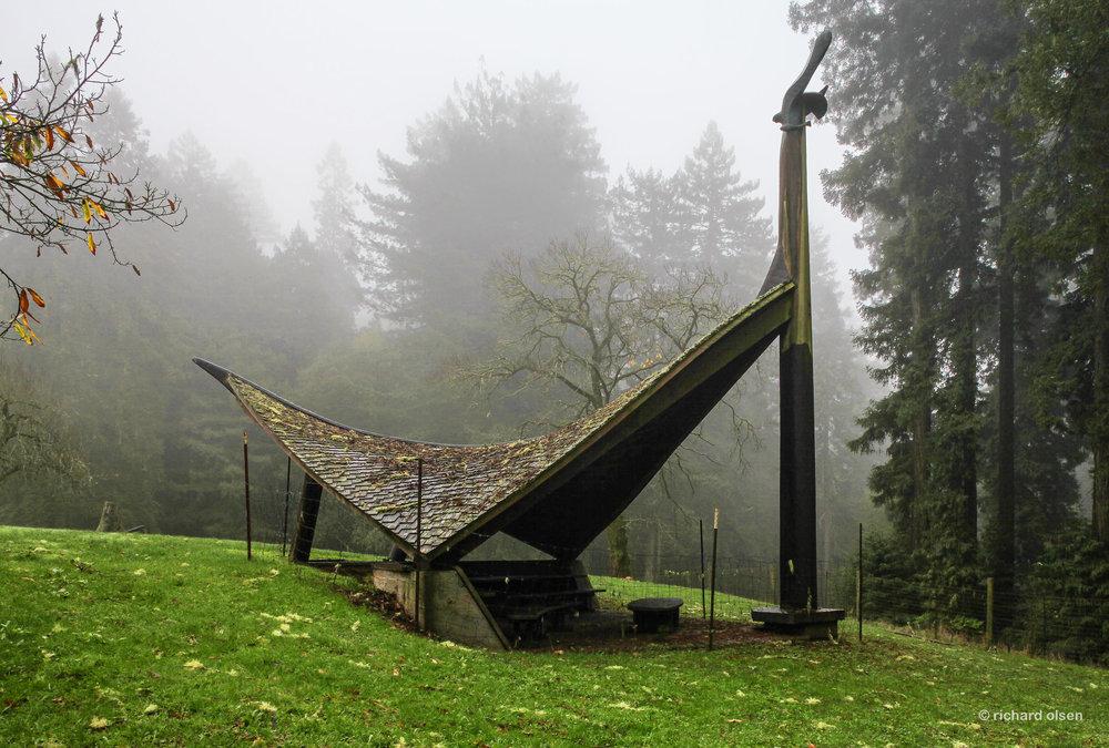 """osprey house"" by sculptor bruce johnson. cazadero, ca."