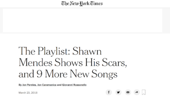 New York Times Playlist (2018)