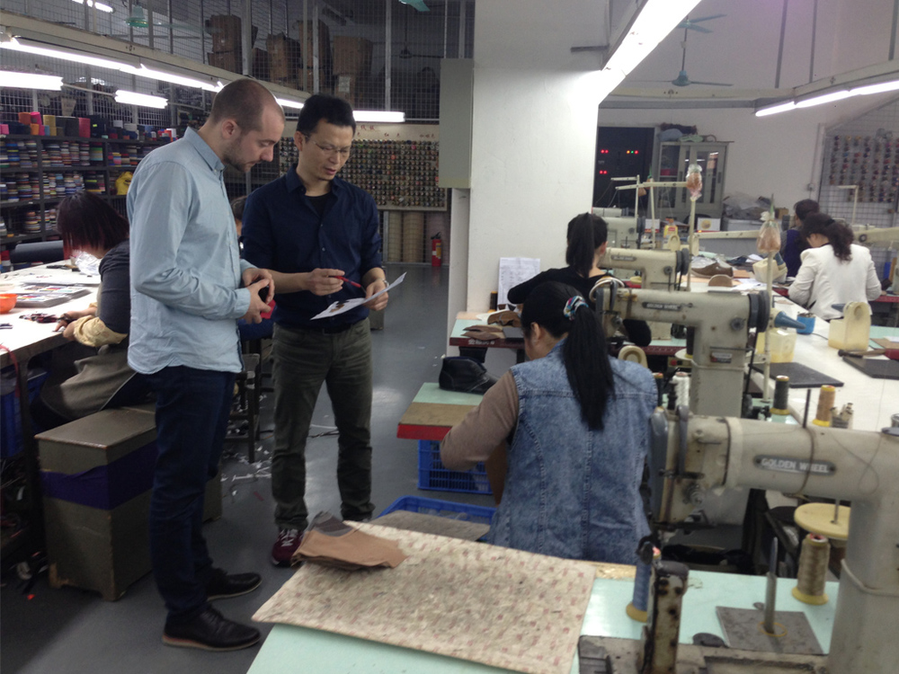 Suppliers and factory visits on a business trip to China.