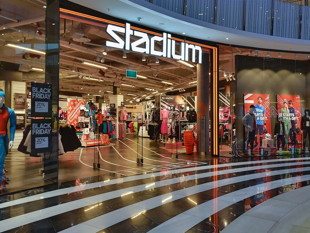 Packaging, d  istribution  and retail at Stadium stores.