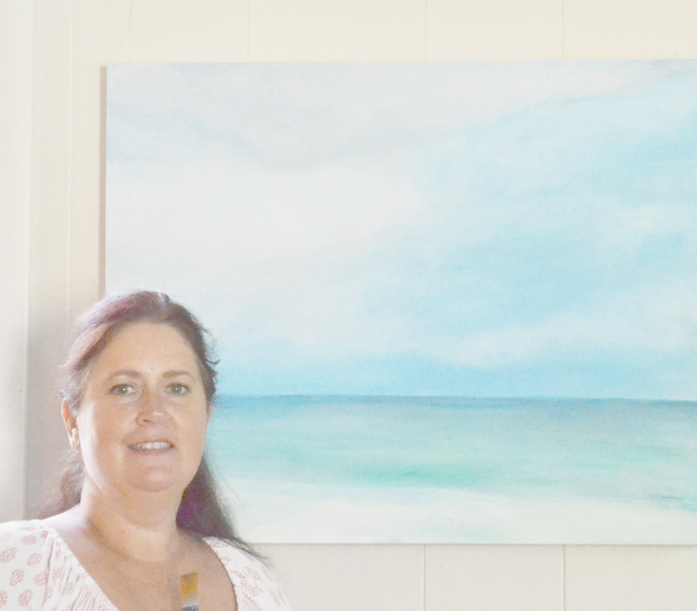 I am currently working on this large commissioned seascape for a client, and will be starting another shortly.  I am booking my calendar for the end of September and October. Contact me by clicking the 'Contact Pam' button above, before my calendar is fills up. I'd love to create something special. Commissioned pieces begin at $250.
