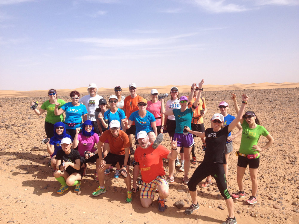 The crew from Run Morocco: Gorges & Sahara 2014