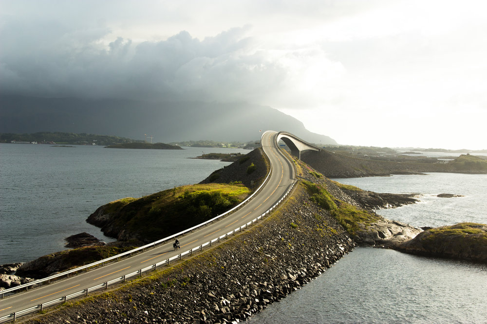 Cycling the Atlantic Road