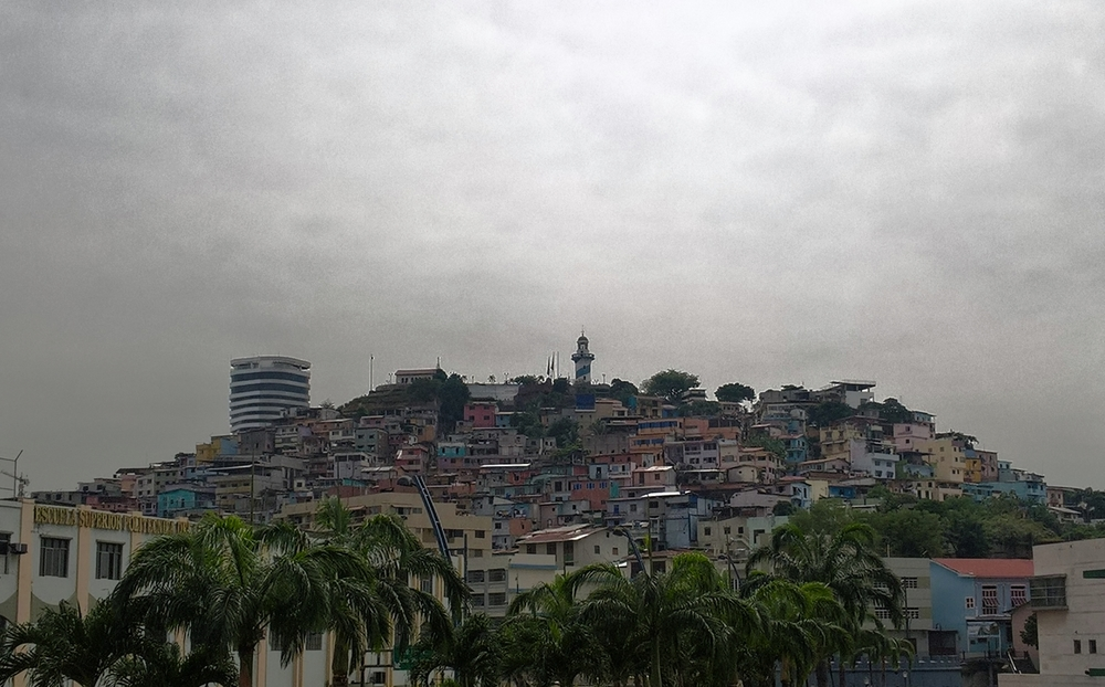 Town seen from Guayaquil waterfront