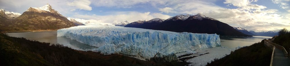 Panoramic photo of the glacier by my Colombian friend, Juliana.