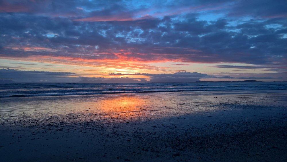 Sunset at Strand beach