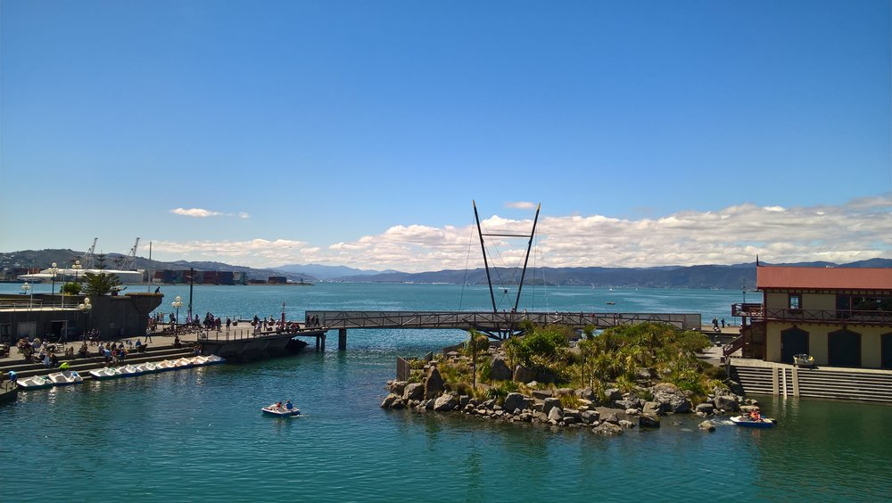 Part of Wellington's waterfront. Doesn't is seem peaceful?