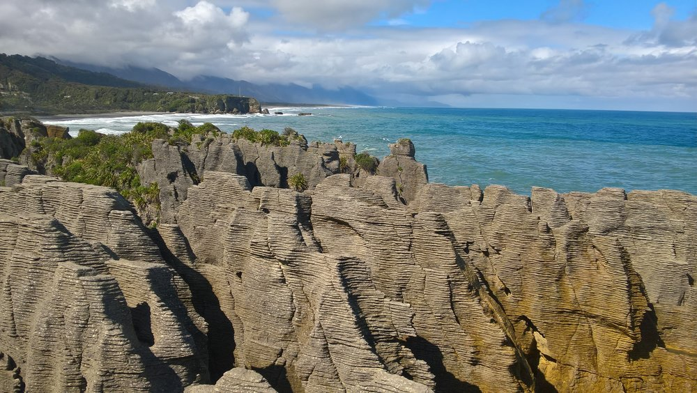 The pancake rocks