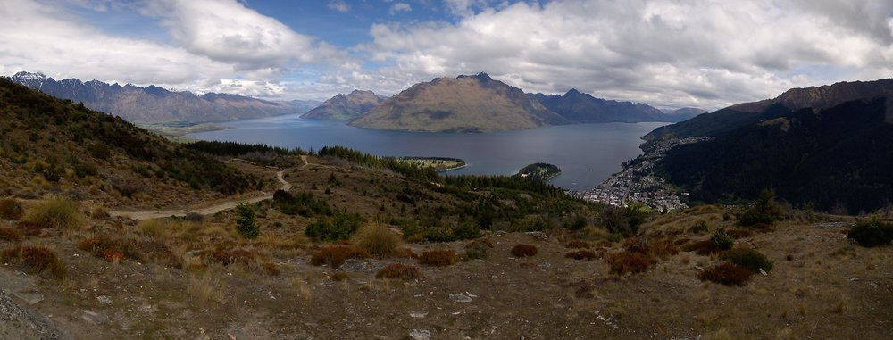Part of the view from Queen Hill Hike. Queenstown is on the right.