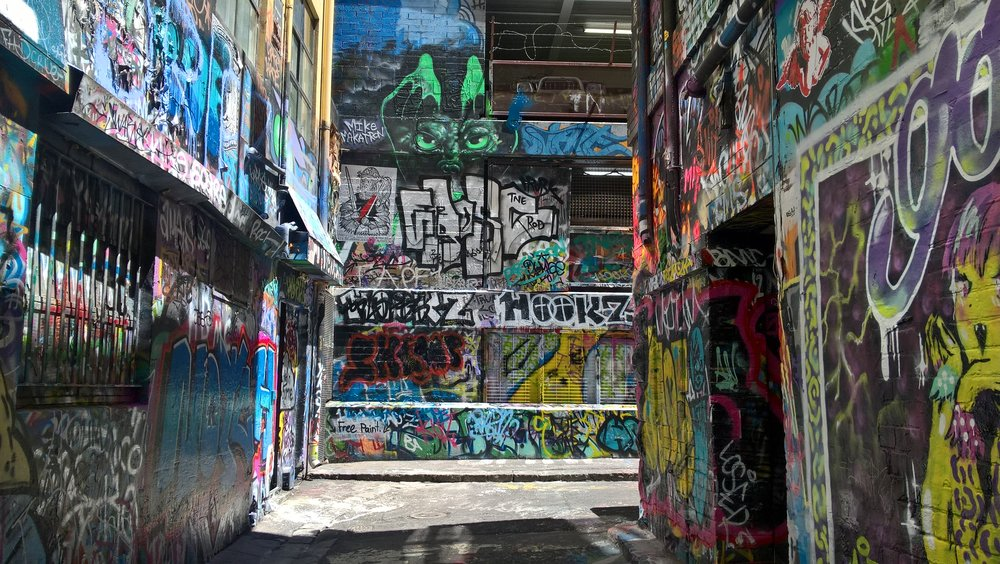 A section of graffiti alley.