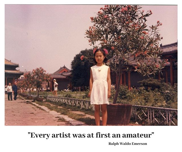 A picture of myself when I was 8 years old and had just started my Chinese ink painting journey. . . . . #michellemaart #summerartprogram #oilpainting #Asianculture #paintingsg #artistsg #sgclasses #artistlife #chineseartist #openstudio